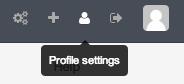 DigitalOcean GitLab profile settings button