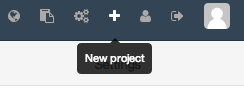 DigitalOcean GitLab top new project button