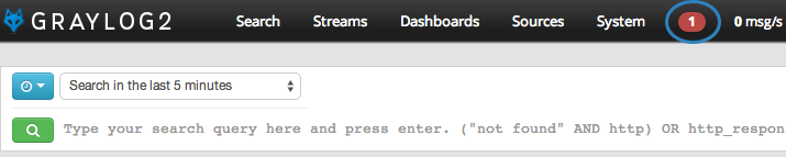 Graylog2 Dashboard