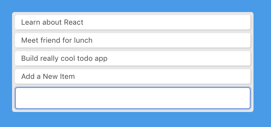 Create function in the to-do app