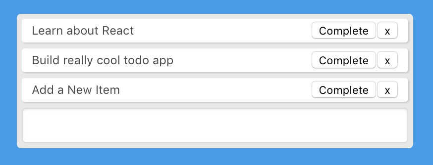 To-do app with delete button