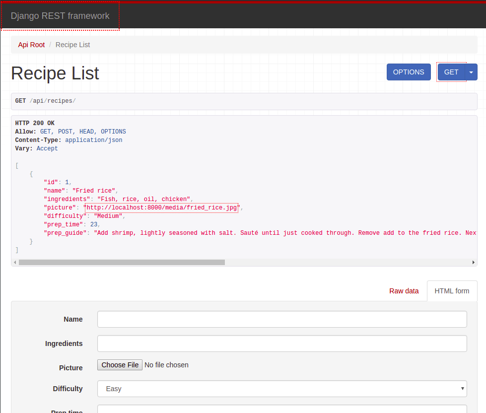 Adding new recipes through the interface