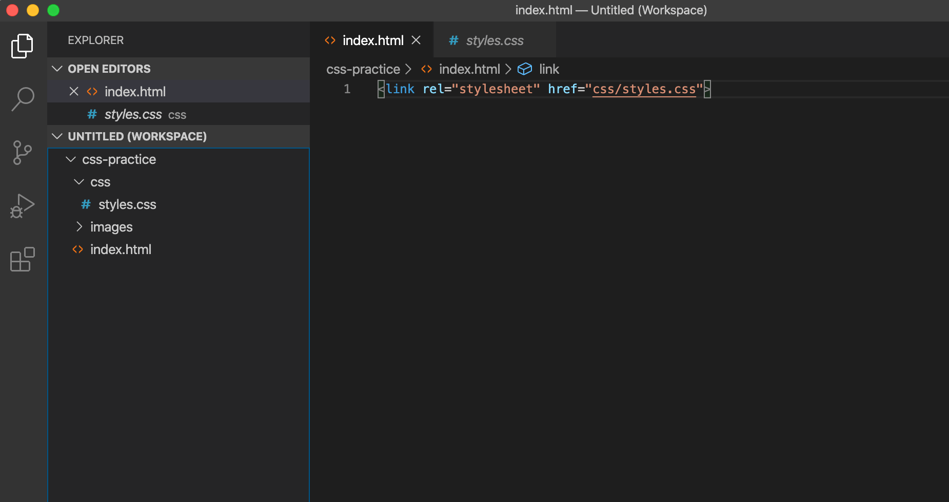 Visual Studio Code Editor with file tree displayed