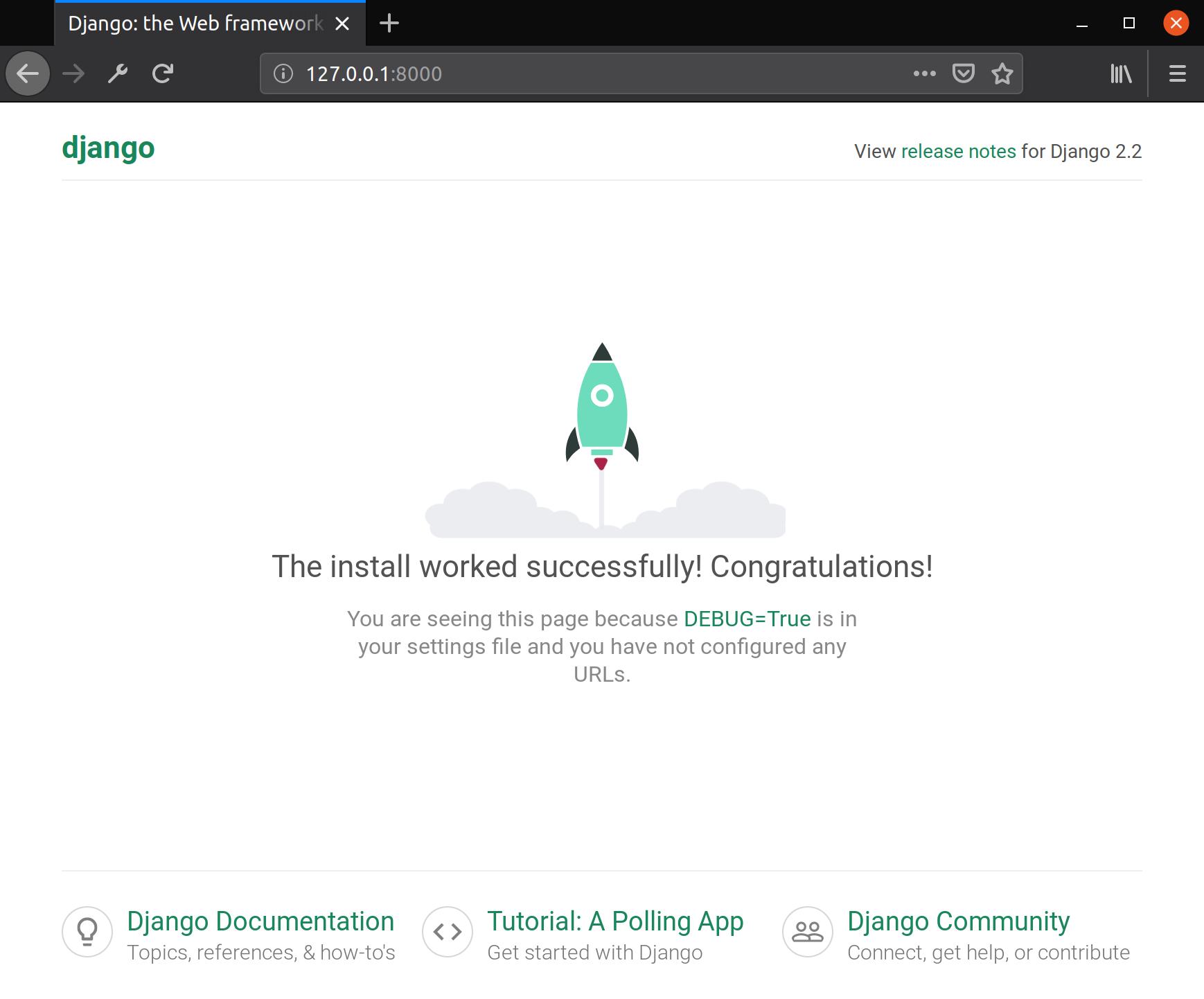 Allgemeine Django-Startseite