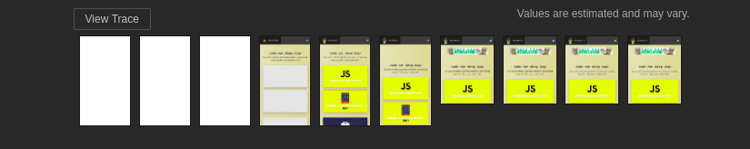 Screenshots of the website