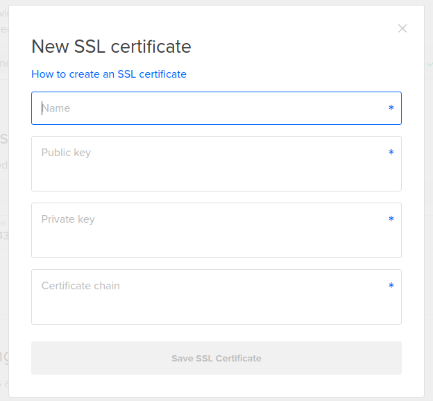 DigitalOcean Load Balancer new SSL cert