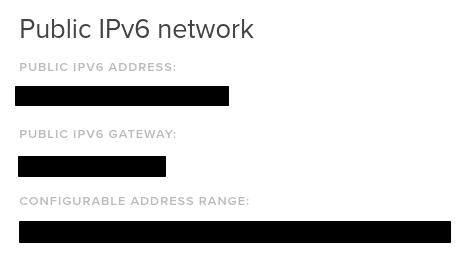 DigitalOcean IPv6 config info