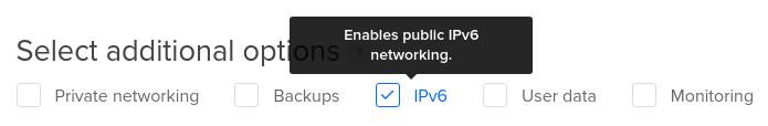 DigitalOcean select IPv6