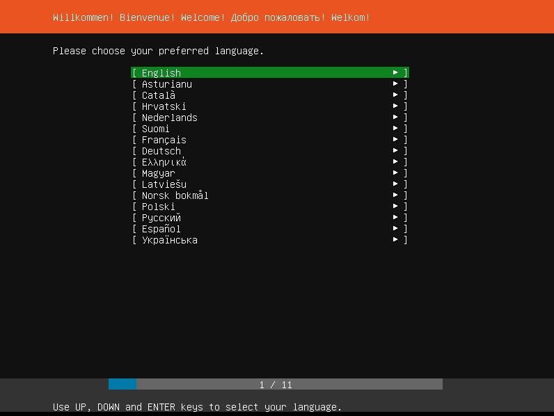 Ubuntu Select Language