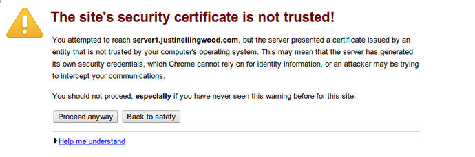 ISPConfig SSL warning