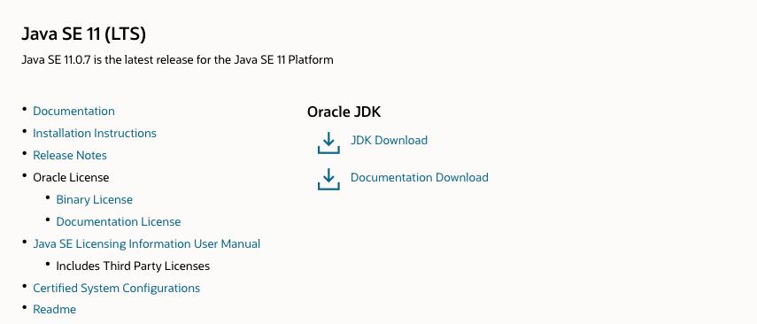 Oracle Java 11