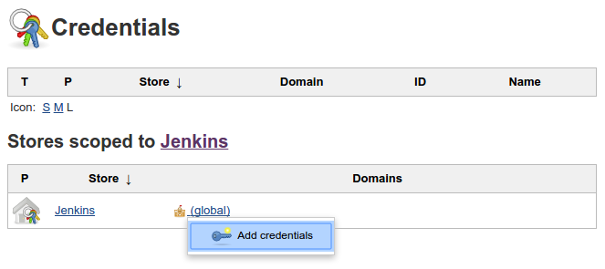 Jenkins add credentials button