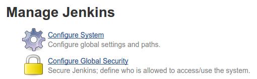 Jenkins configure system link
