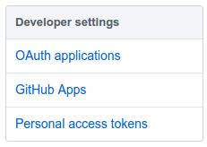 GitHub personal access tokens link