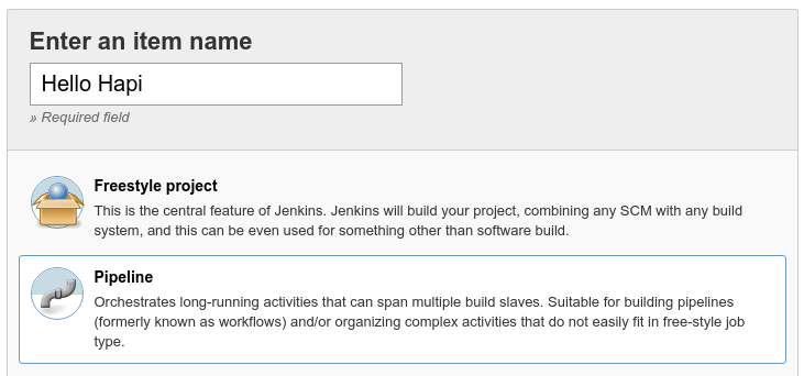 Jenkins pipeline type