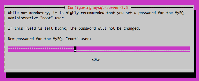 Set MySQL root password