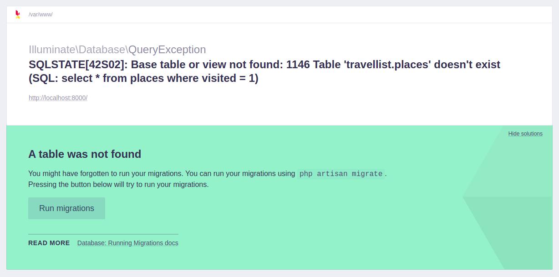 Erro do MySQL