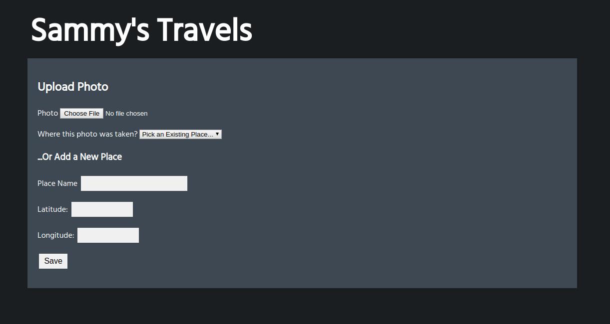 Travellist Photo Upload Form