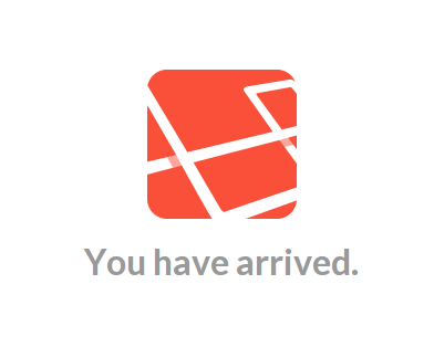 Laravel default landing page