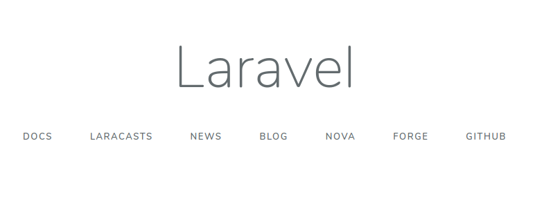Laravel splash page