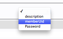 LDAP memberuid entry menu