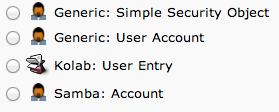 LDAP user account