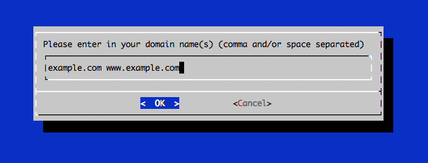 Domain name prompt