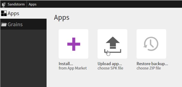 Sandstorm Upload App