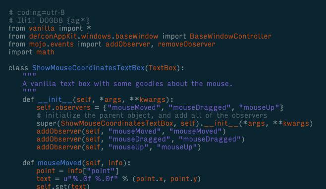 input font example