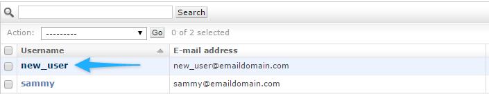 Click Username