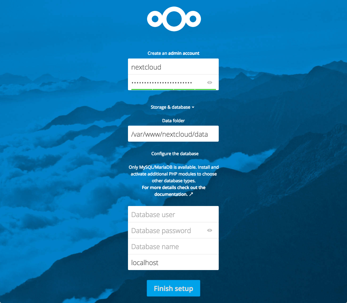 Nextcloud Admin Account