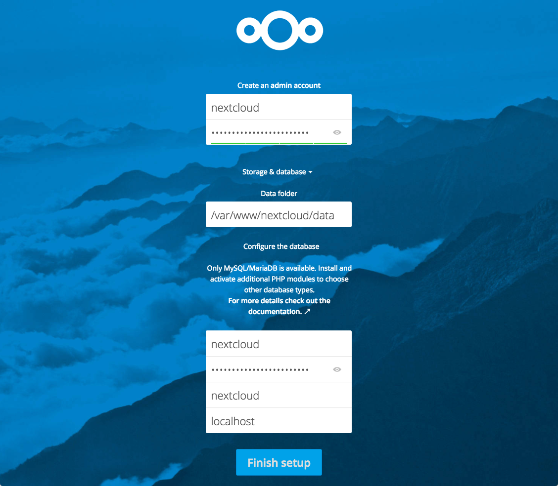 Nextcloud Database Example
