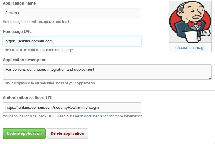 Jenkins settings on GitHub; https:// has been used with both URLs