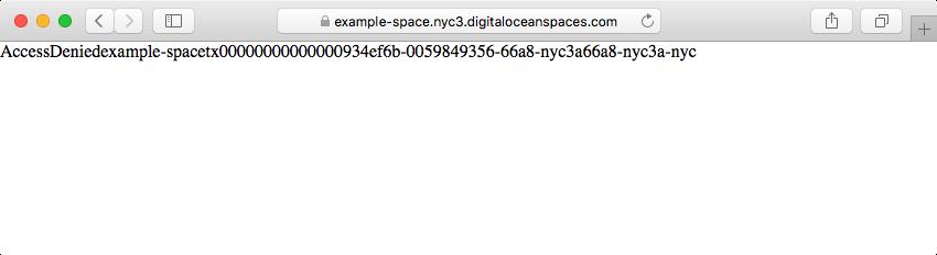 AccessDenied error in a browser window