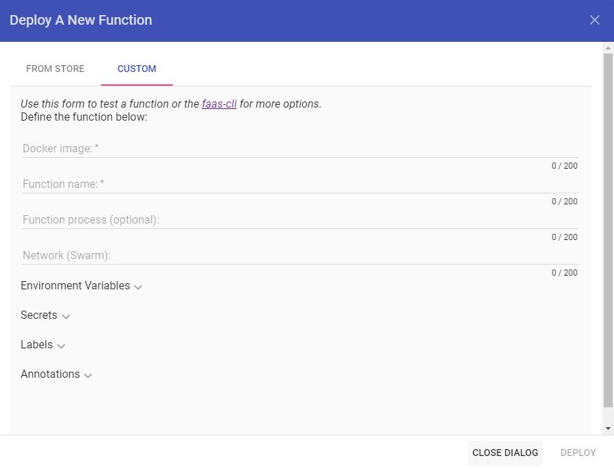 OpenFaaS – Bereitstellen einer benutzerdefinierten Funktion