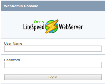 OpenLiteSpeed admin login