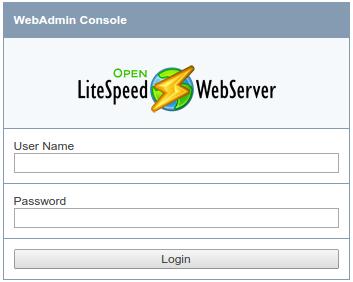 OpenLiteSpeed admin login