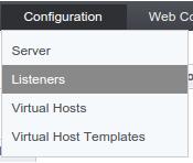 OpenLiteSpeed listeners configuration