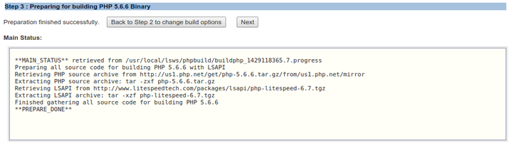 OpenLiteSpeed prepare PHP build