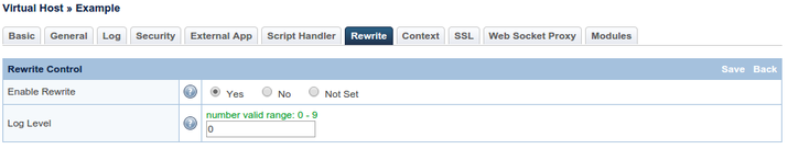 OpenLiteSpeed rewrite select yes