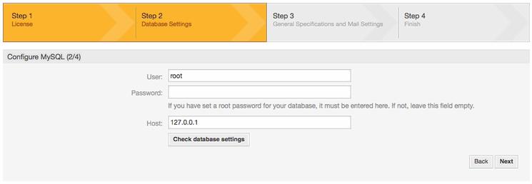 Configure MySQL