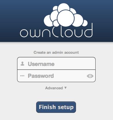 OwnCloud create admin