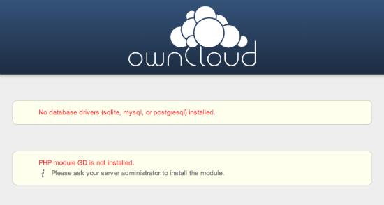OwnCloud error page