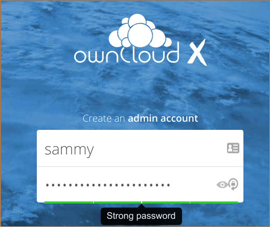 ownCloud Admin Account