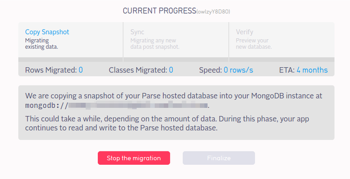 Parse App: Migration Progress