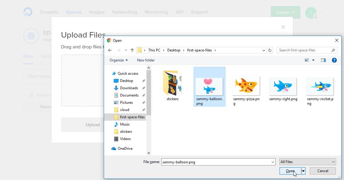 Screenshot of Windows selection dialog