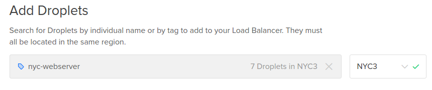 DigitalOcean Load Balancers add by tag
