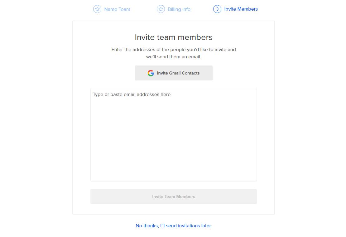 Invite Team Members