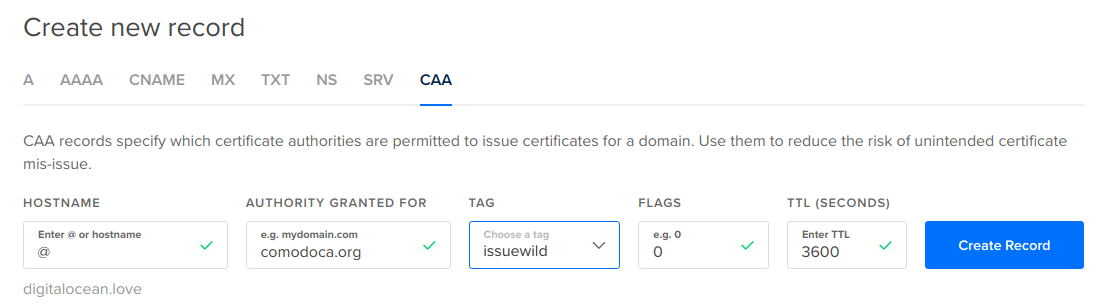 How To Create And Manage Caa Records Digitalocean Product