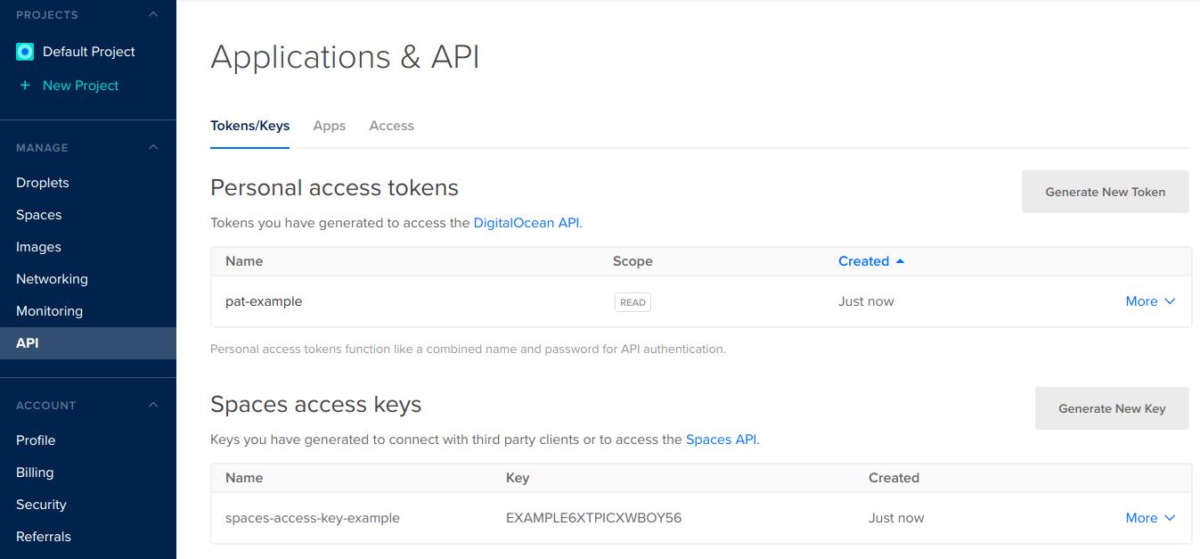 API page
